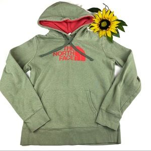 North Face Hoodie Sweatshirt Logo Army Green